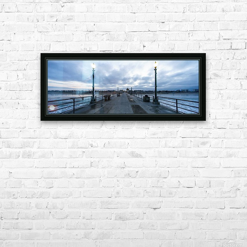 Huntington Beach Pier Panorama HD Sublimation Metal print with Decorating Float Frame (BOX)