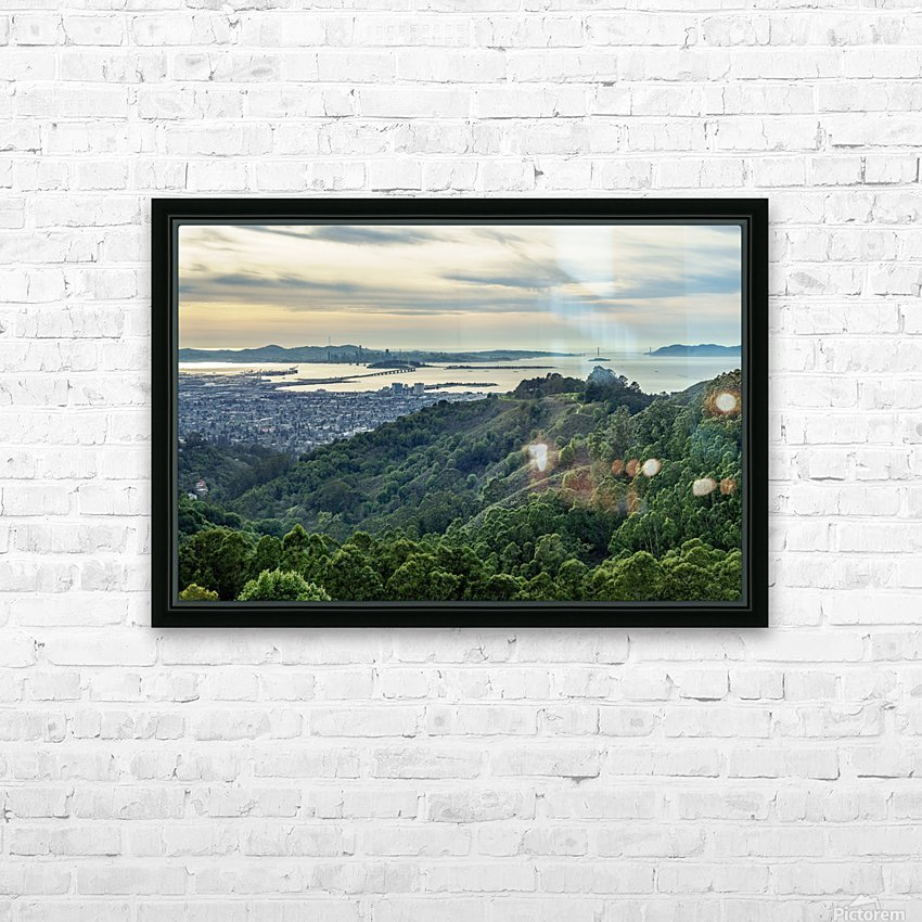 San Francisco Skyline From Berkeley  HD Sublimation Metal print with Decorating Float Frame (BOX)