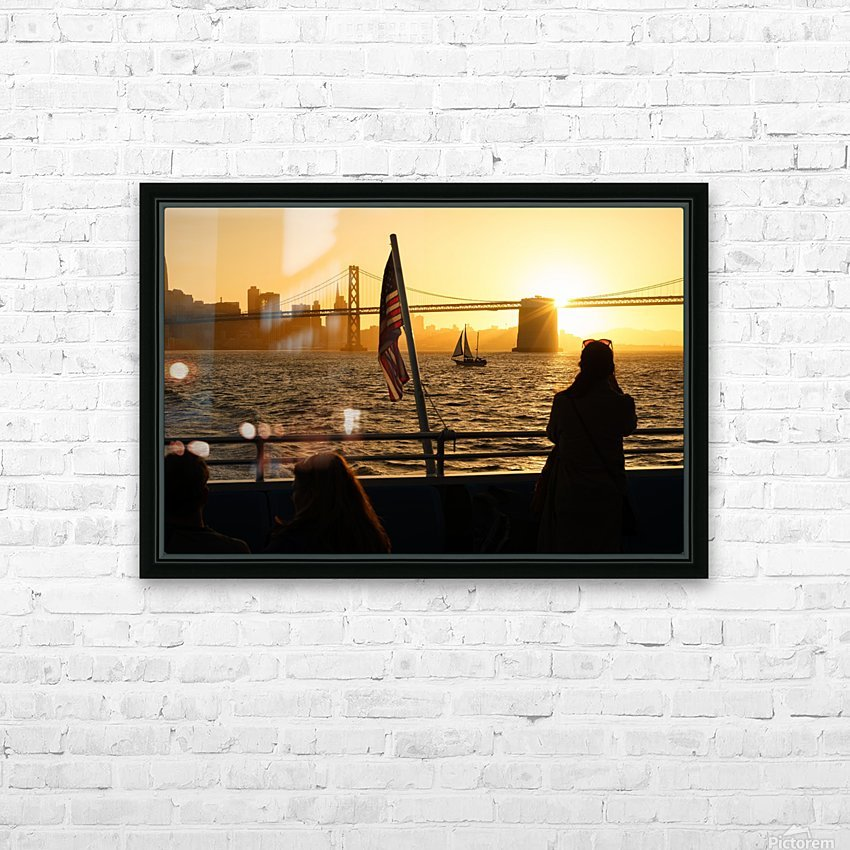 Sunset In The Bay HD Sublimation Metal print with Decorating Float Frame (BOX)