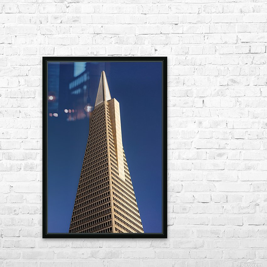 Transamerican Pyramid HD Sublimation Metal print with Decorating Float Frame (BOX)