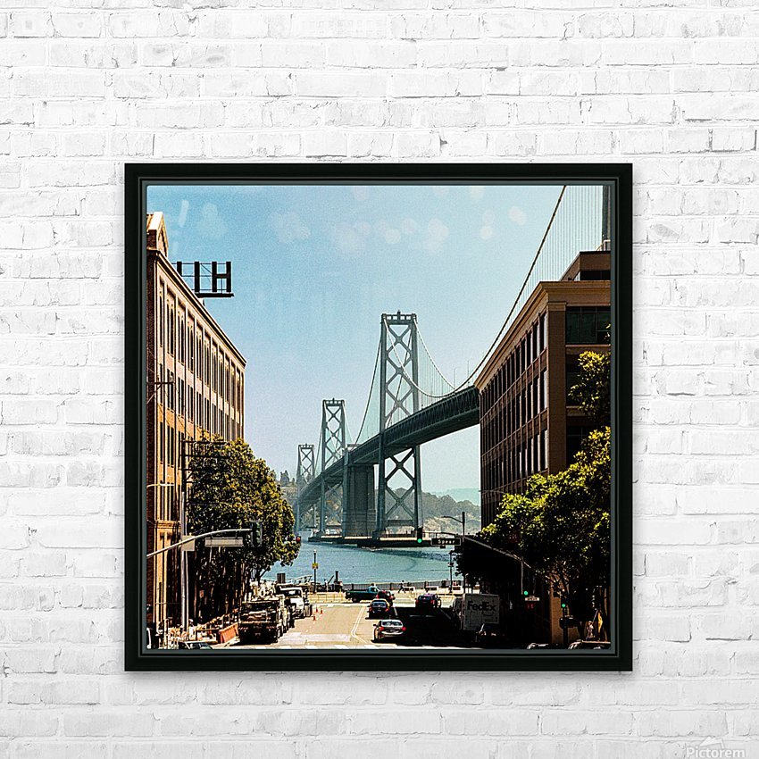 Spear Street HD Sublimation Metal print with Decorating Float Frame (BOX)