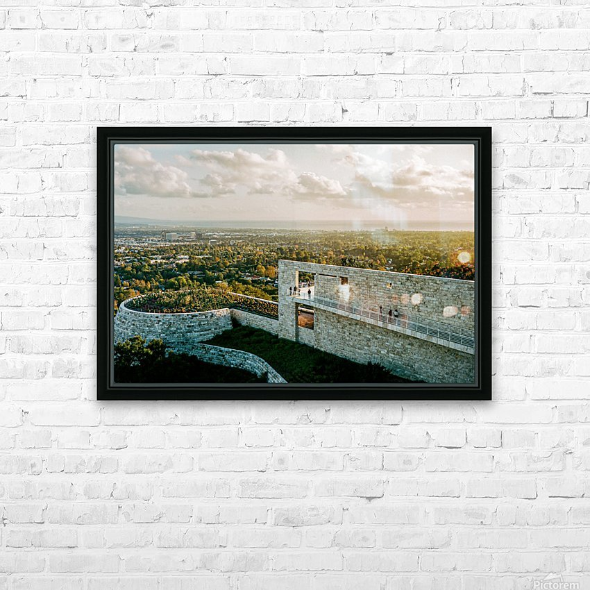 Sunset At The Getty HD Sublimation Metal print with Decorating Float Frame (BOX)