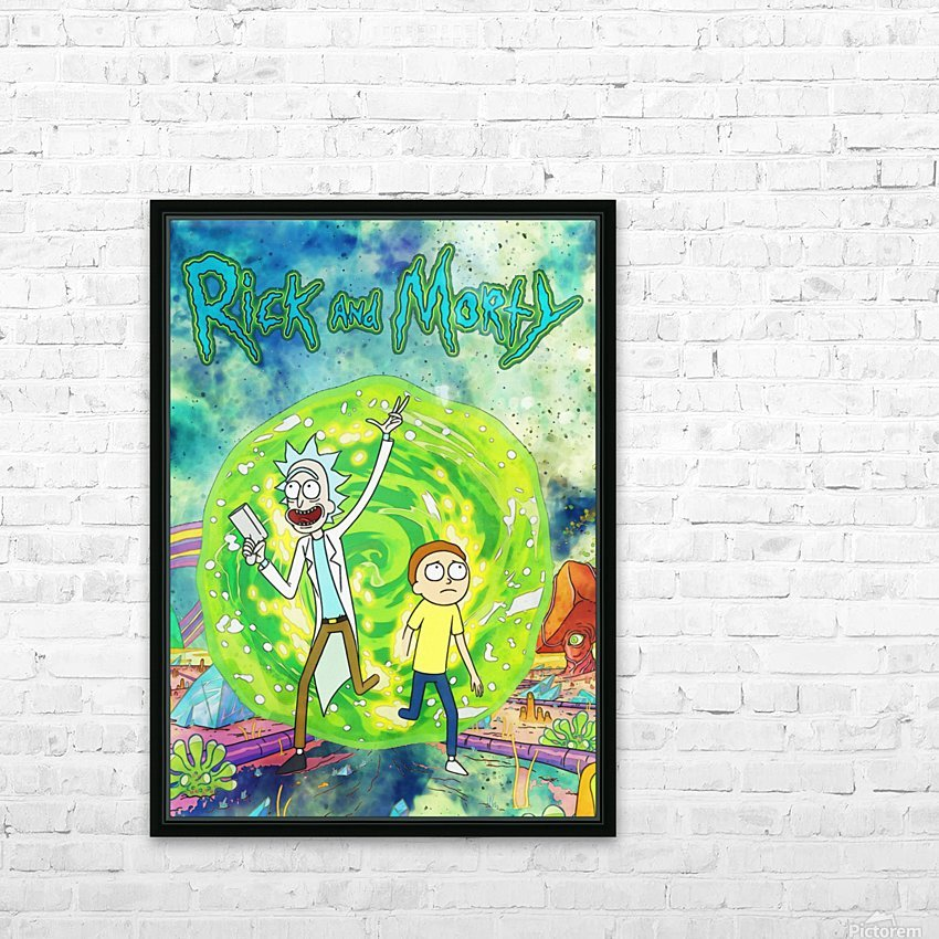 Rick and morty_  HD Sublimation Metal print with Decorating Float Frame (BOX)