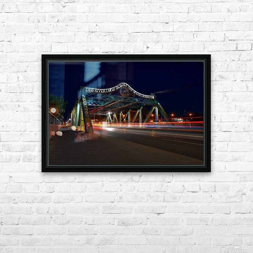 Queen St Viaduct HD Sublimation Metal print with Decorating Float Frame (BOX)