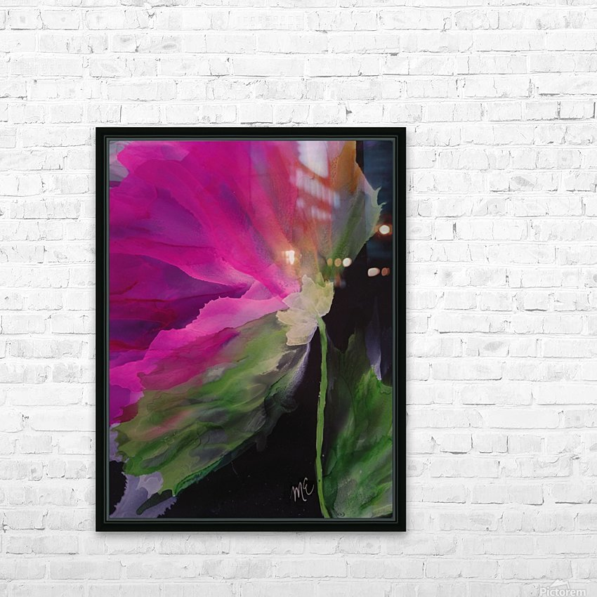 Windblown Blossom HD Sublimation Metal print with Decorating Float Frame (BOX)