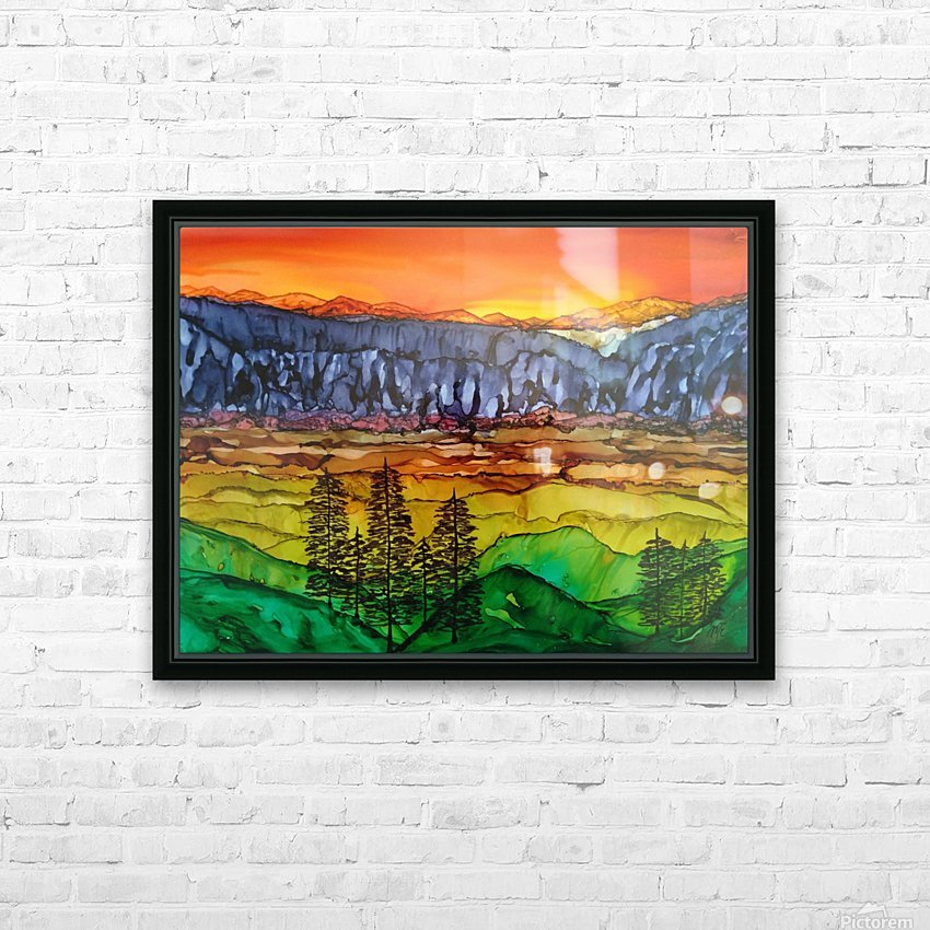 Hidden Canyon HD Sublimation Metal print with Decorating Float Frame (BOX)
