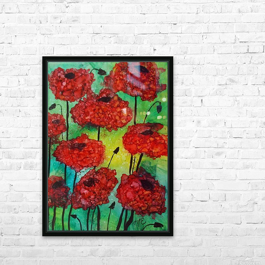 Thinking of Poppies HD Sublimation Metal print with Decorating Float Frame (BOX)