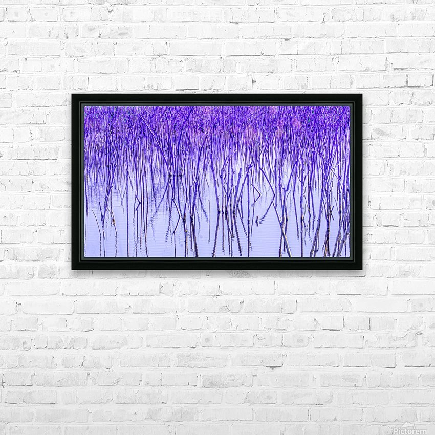 Blue Sticks HD Sublimation Metal print with Decorating Float Frame (BOX)