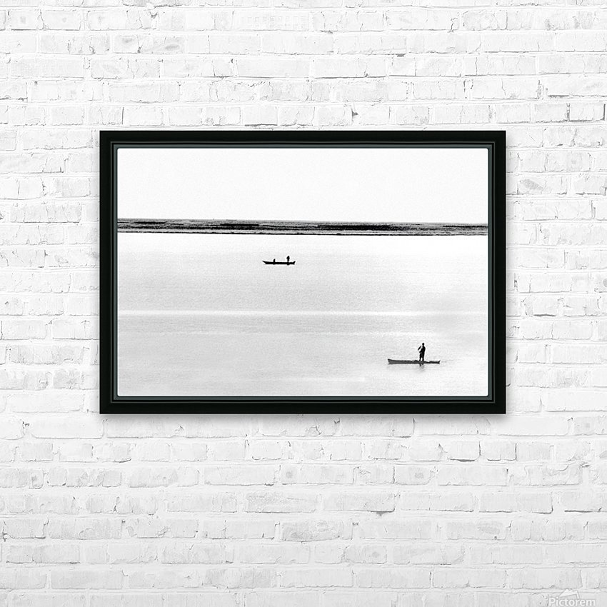Boat - XXXV HD Sublimation Metal print with Decorating Float Frame (BOX)