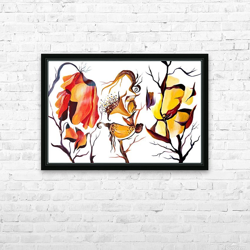 Exotic Tropical Flowers Illustration HD Sublimation Metal print with Decorating Float Frame (BOX)