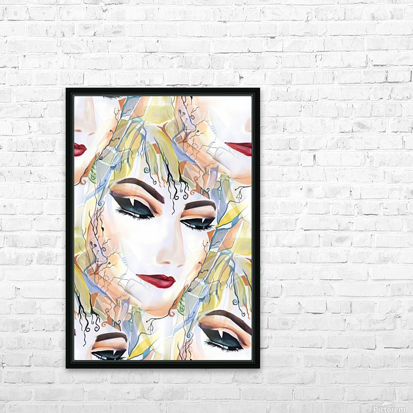 Mysterious Female in Seamless Pattern HD Sublimation Metal print with Decorating Float Frame (BOX)