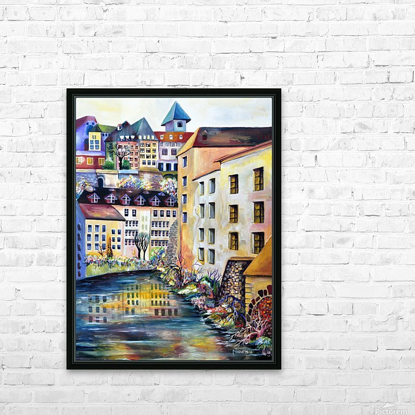 Sweden Stockholm Gamla Stan Watercolor HD Sublimation Metal print with Decorating Float Frame (BOX)