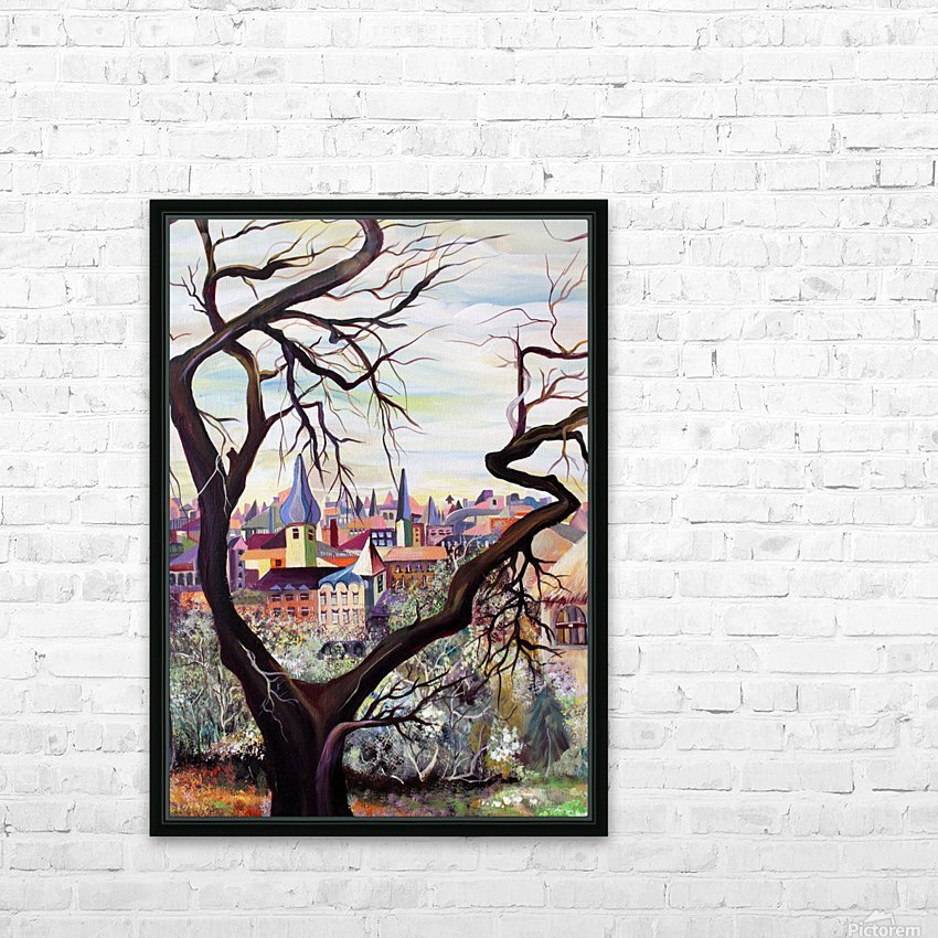 French Provenance Bohemian View HD Sublimation Metal print with Decorating Float Frame (BOX)