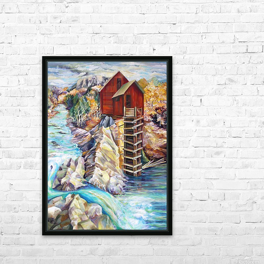 Colorado Rocky Mountains Crystel Mill River  HD Sublimation Metal print with Decorating Float Frame (BOX)