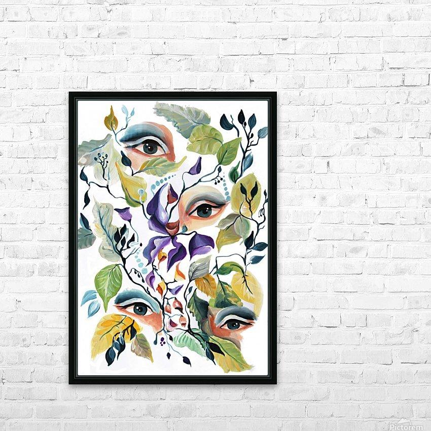 Vintage Retro Feminine Vibe Pattern HD Sublimation Metal print with Decorating Float Frame (BOX)