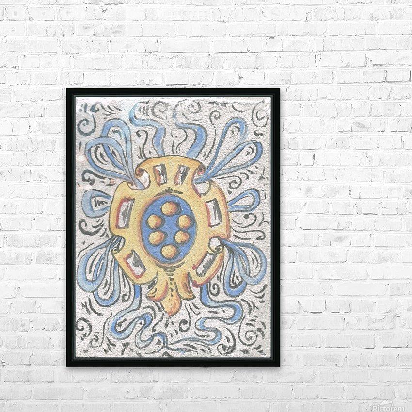 Florentia_ Crest - fresco HD Sublimation Metal print with Decorating Float Frame (BOX)