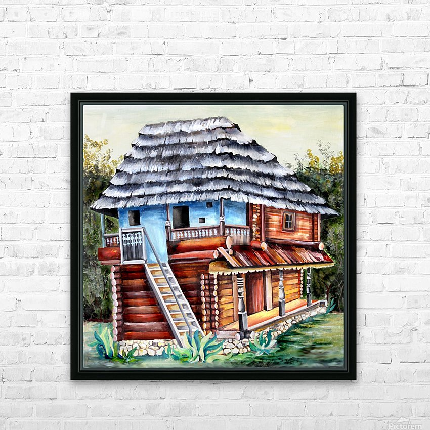 Romania Transylvania  Heritage House HD Sublimation Metal print with Decorating Float Frame (BOX)