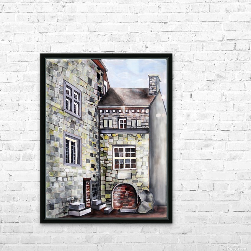 Liege Castle French Provenance  HD Sublimation Metal print with Decorating Float Frame (BOX)