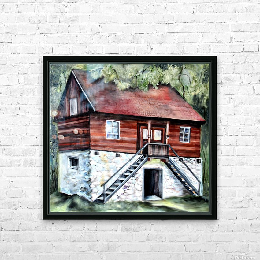 Romania Transylvania Historical Traditional House HD Sublimation Metal print with Decorating Float Frame (BOX)