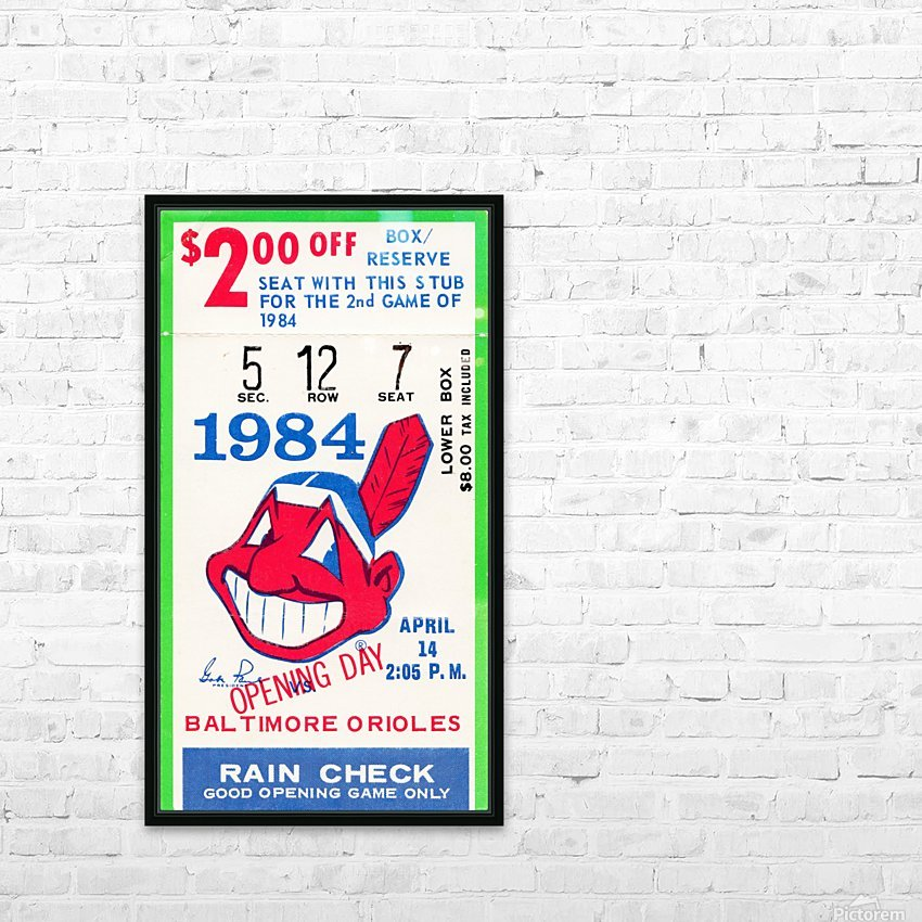 cleveland indians gift ideas fathers day ohio HD Sublimation Metal print with Decorating Float Frame (BOX)