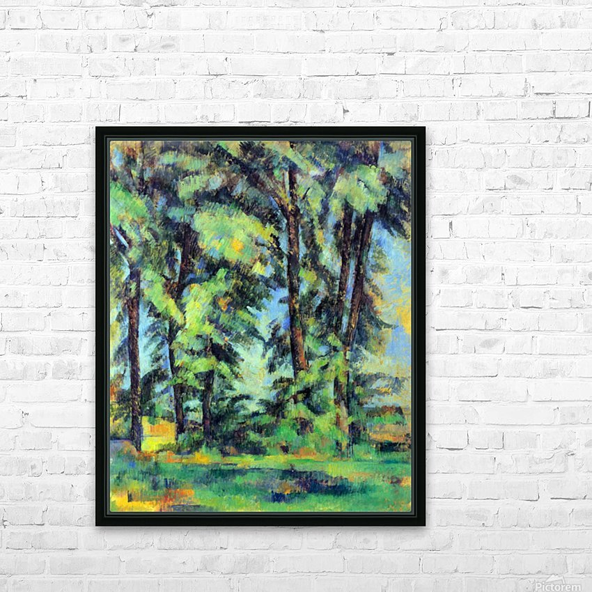 High trees in the Jas de Bouffan by Cezanne HD Sublimation Metal print with Decorating Float Frame (BOX)