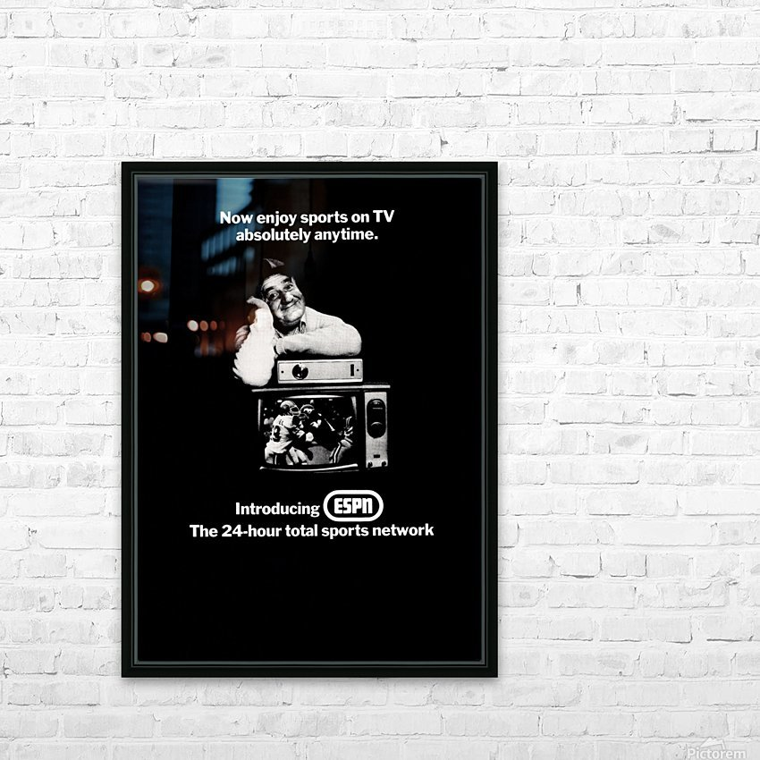 1981 ESPN Print Ad HD Sublimation Metal print with Decorating Float Frame (BOX)