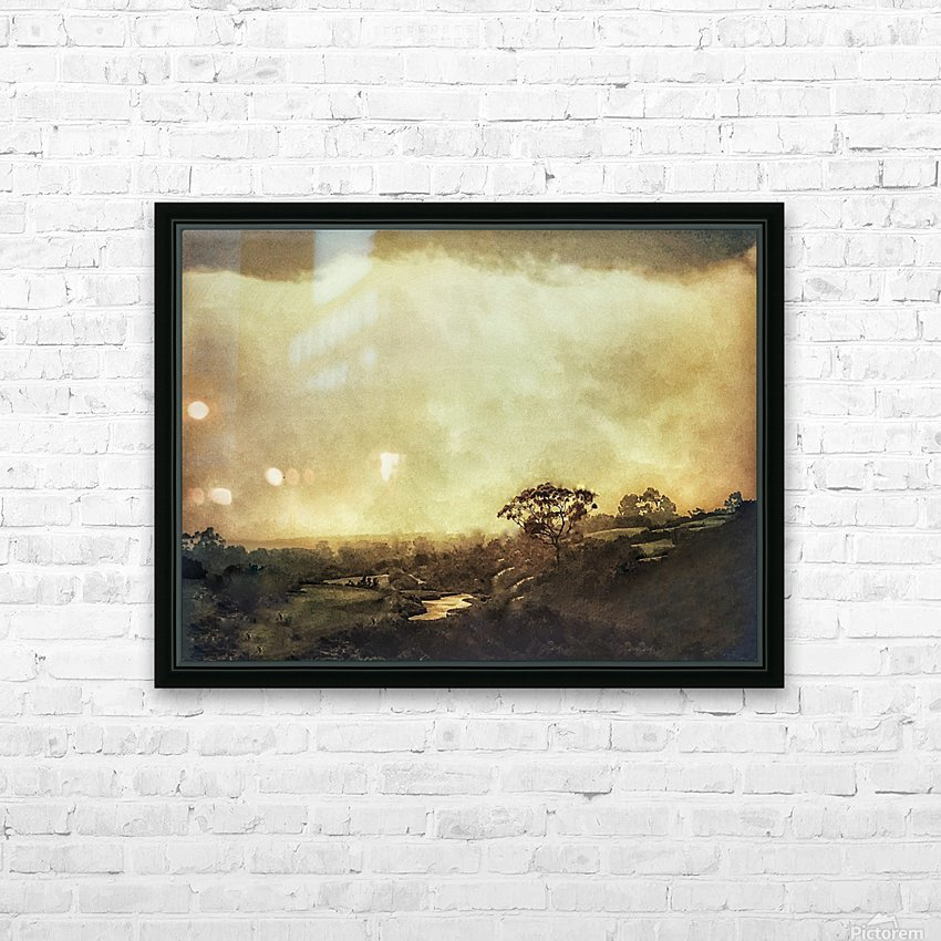 Morning Dew HD Sublimation Metal print with Decorating Float Frame (BOX)