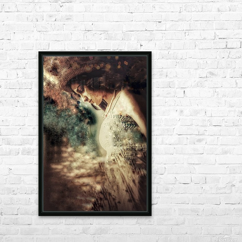 Girl by the Ocean HD Sublimation Metal print with Decorating Float Frame (BOX)