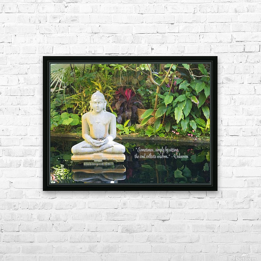 Zen HD Sublimation Metal print with Decorating Float Frame (BOX)