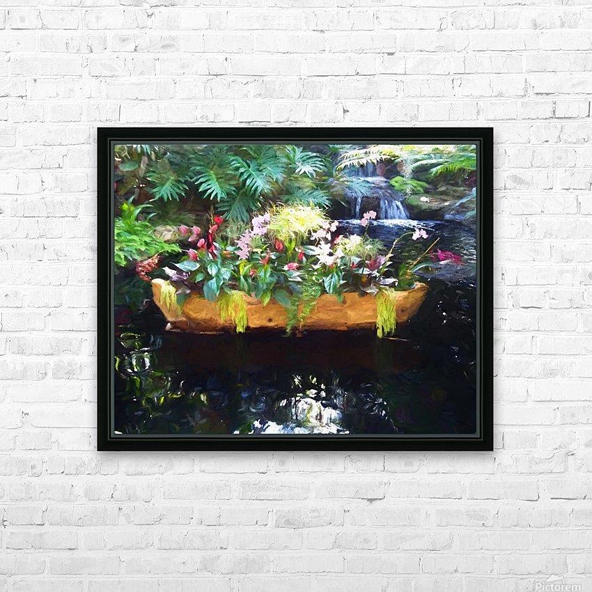 Floating Botanicals HD Sublimation Metal print with Decorating Float Frame (BOX)