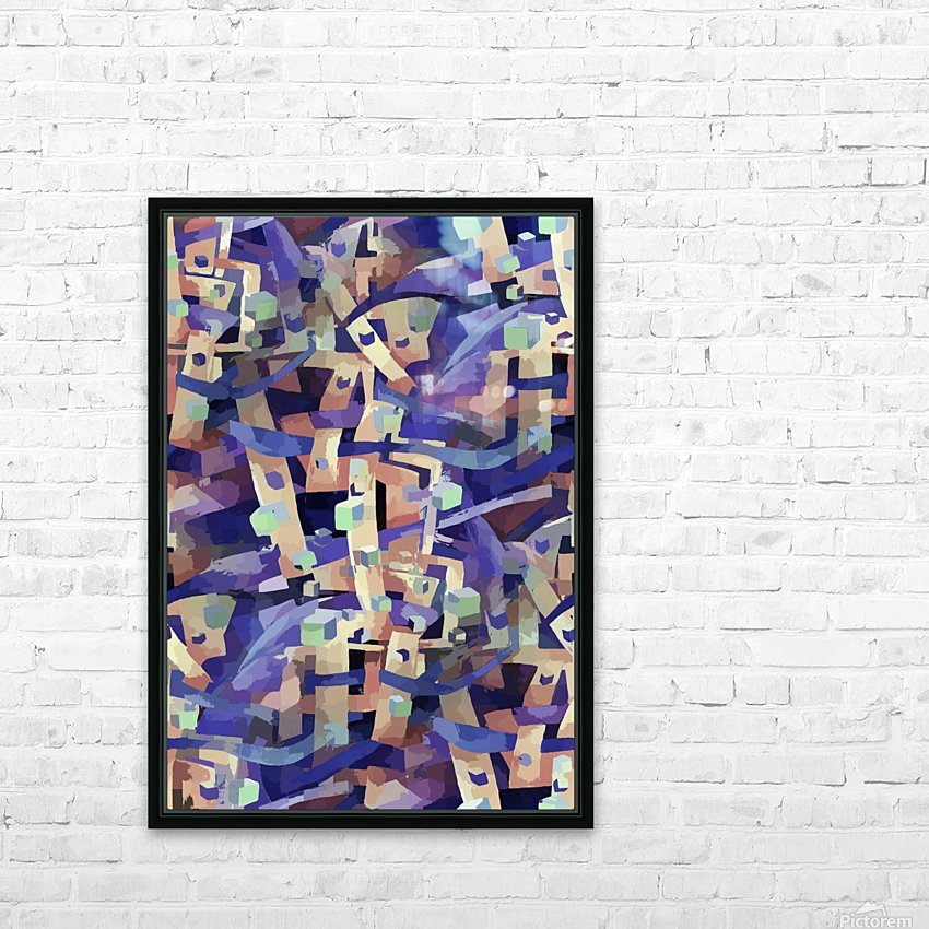 Seamless Geometric Vivid Abstract HD Sublimation Metal print with Decorating Float Frame (BOX)