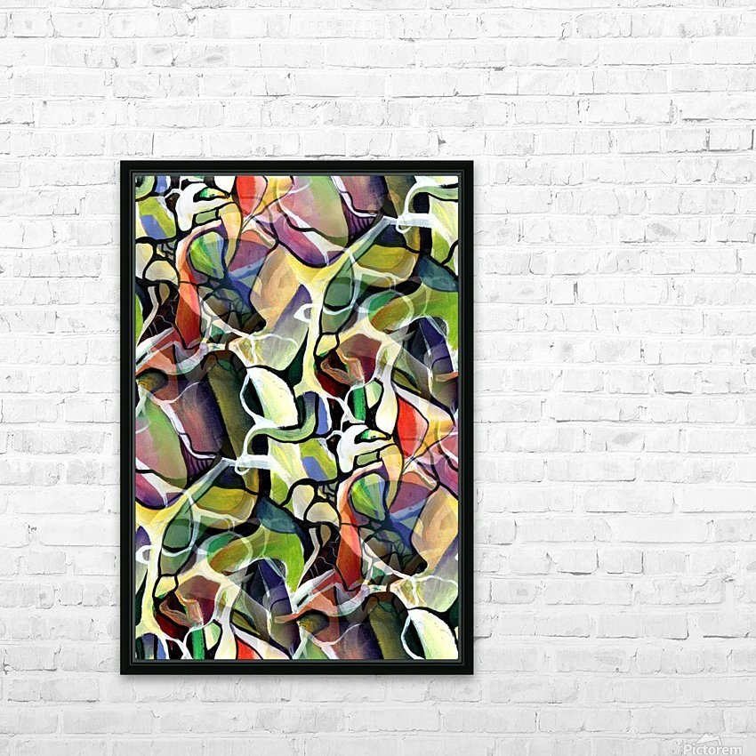 Linear Interlacing Expressionism Abstract HD Sublimation Metal print with Decorating Float Frame (BOX)
