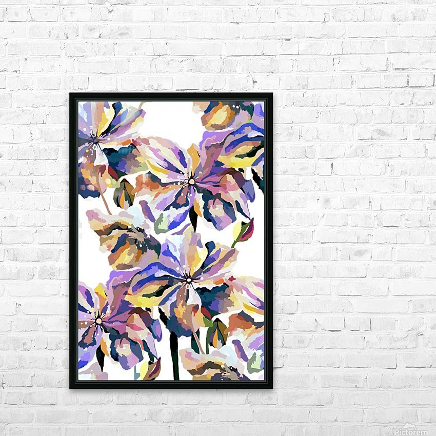 Watercolor Vintage Retro Floral Pattern  HD Sublimation Metal print with Decorating Float Frame (BOX)