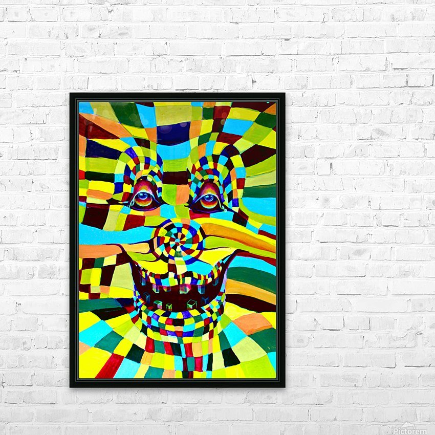 Watecolor Contermporary Pop Surrealism Clown  HD Sublimation Metal print with Decorating Float Frame (BOX)