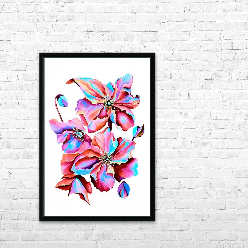 Himalaya Hot Fushia Poppies HD Sublimation Metal print with Decorating Float Frame (BOX)