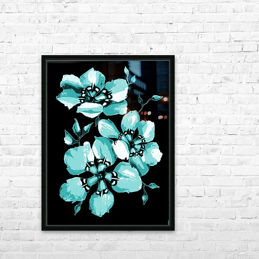 Harmonious Artdeco Floral Pattern  HD Sublimation Metal print with Decorating Float Frame (BOX)