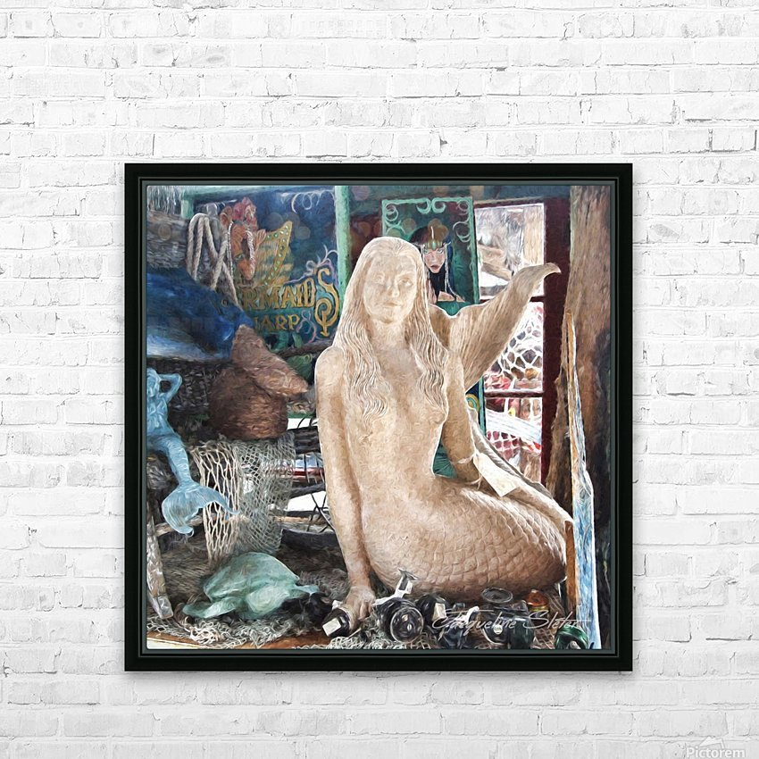 MermaidPondering HD Sublimation Metal print with Decorating Float Frame (BOX)