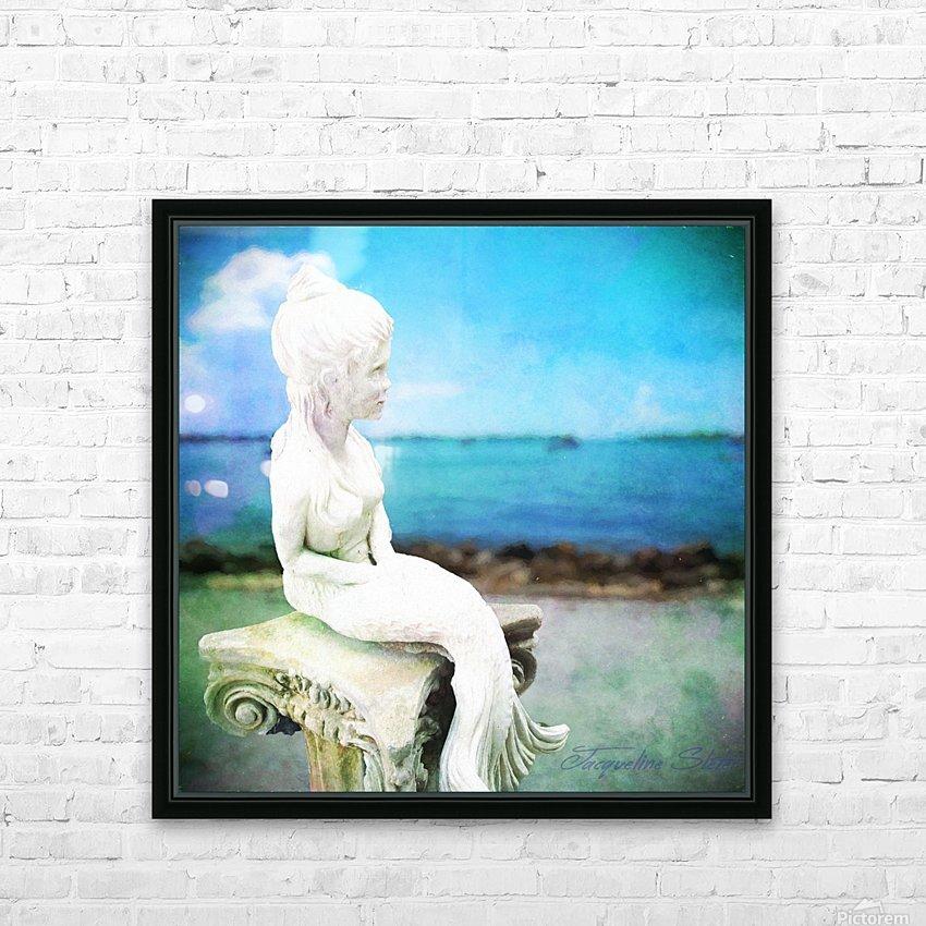 MermaidLisa HD Sublimation Metal print with Decorating Float Frame (BOX)