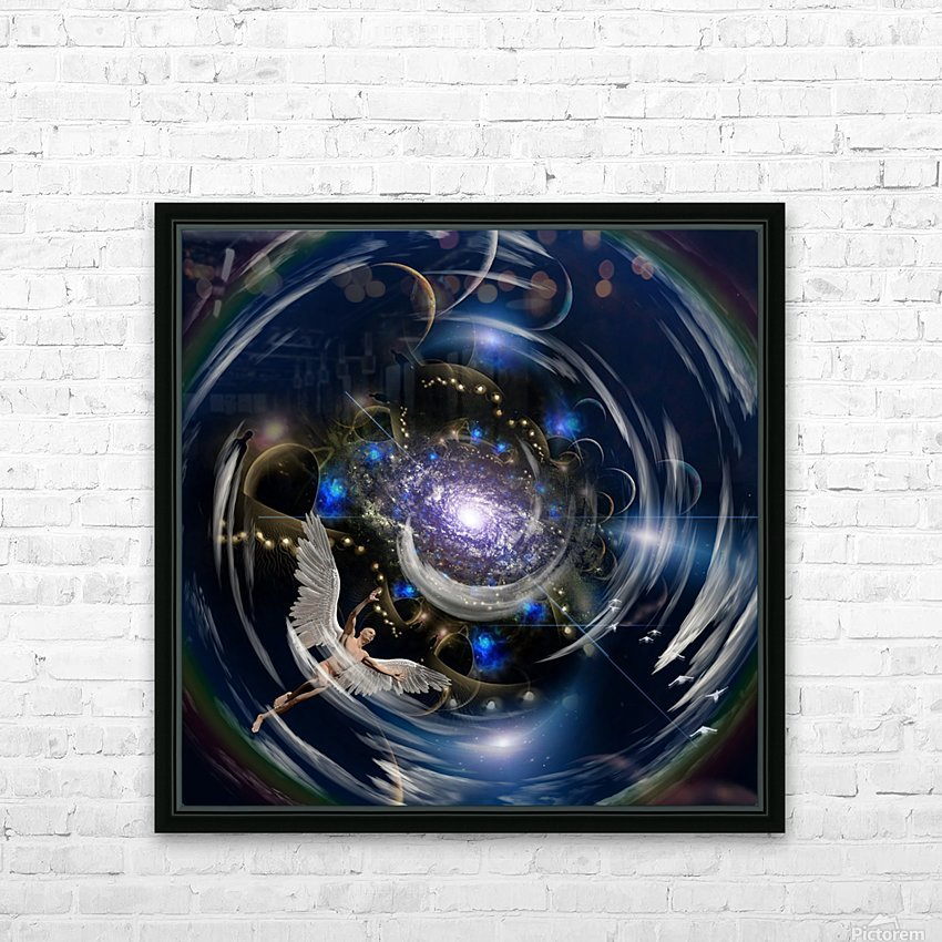 Angel in Tunnel HD Sublimation Metal print with Decorating Float Frame (BOX)