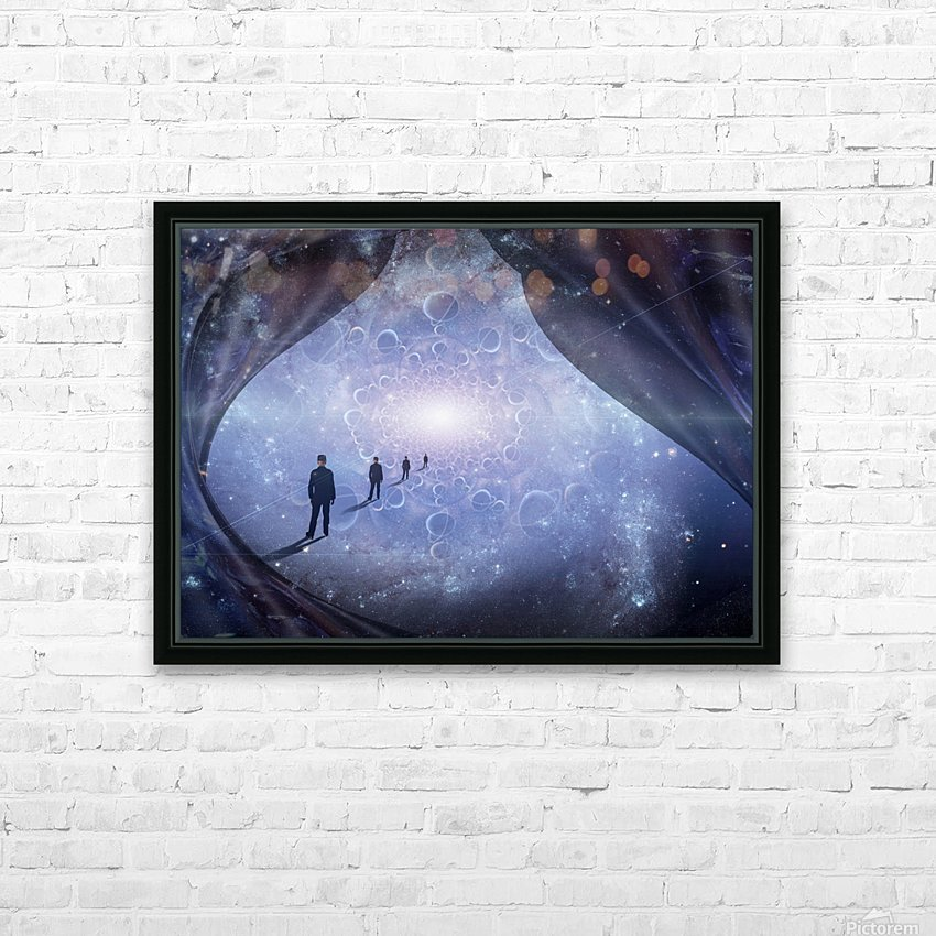 Man in Universe HD Sublimation Metal print with Decorating Float Frame (BOX)