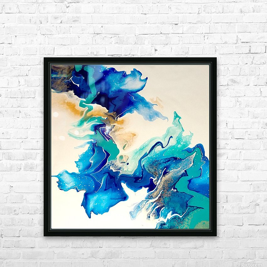 Ocean_Blue_II HD Sublimation Metal print with Decorating Float Frame (BOX)