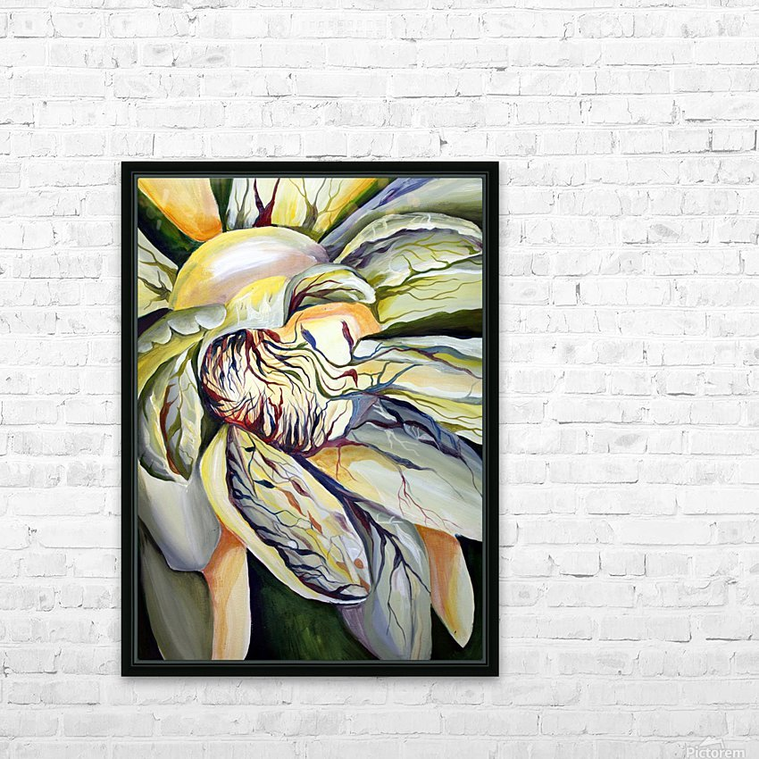 Artdeco Structural Flower Petals HD Sublimation Metal print with Decorating Float Frame (BOX)
