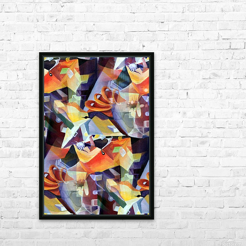 Oscillating  Magical Vivid Thoughts HD Sublimation Metal print with Decorating Float Frame (BOX)