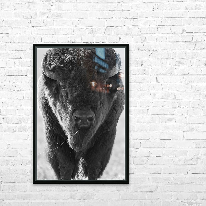 7893 - Buffalo HD Sublimation Metal print with Decorating Float Frame (BOX)