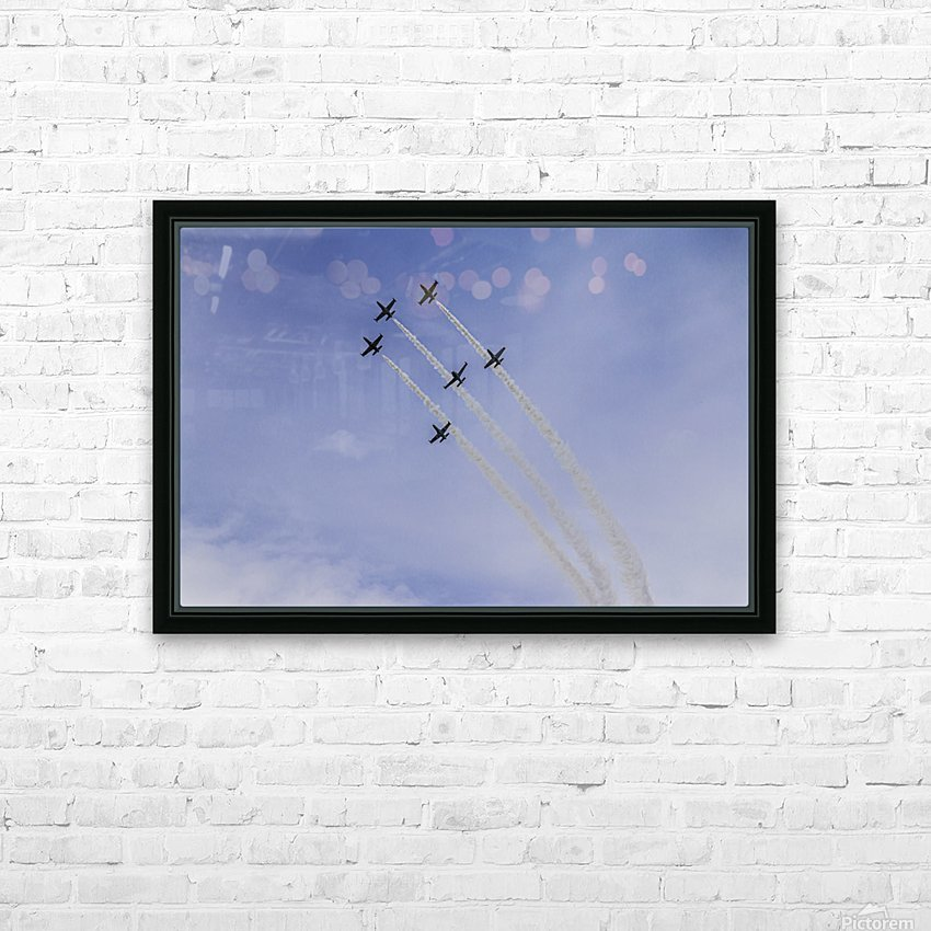 JET PLANES EXHIBITION HD Sublimation Metal print with Decorating Float Frame (BOX)