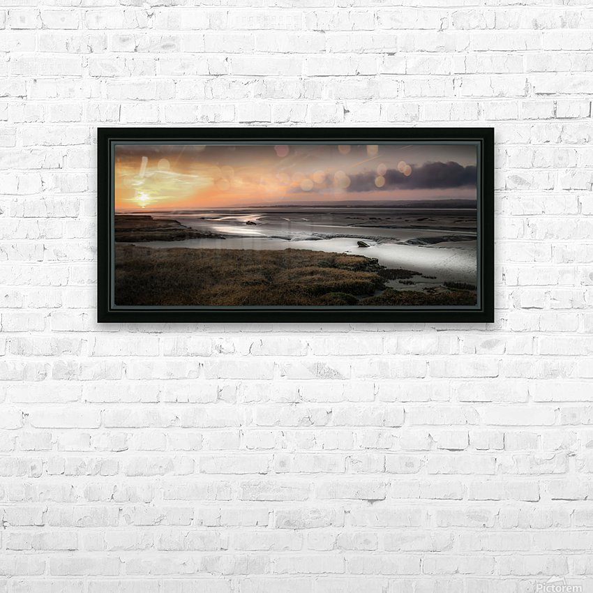 Penclawdd marsh sunset HD Sublimation Metal print with Decorating Float Frame (BOX)