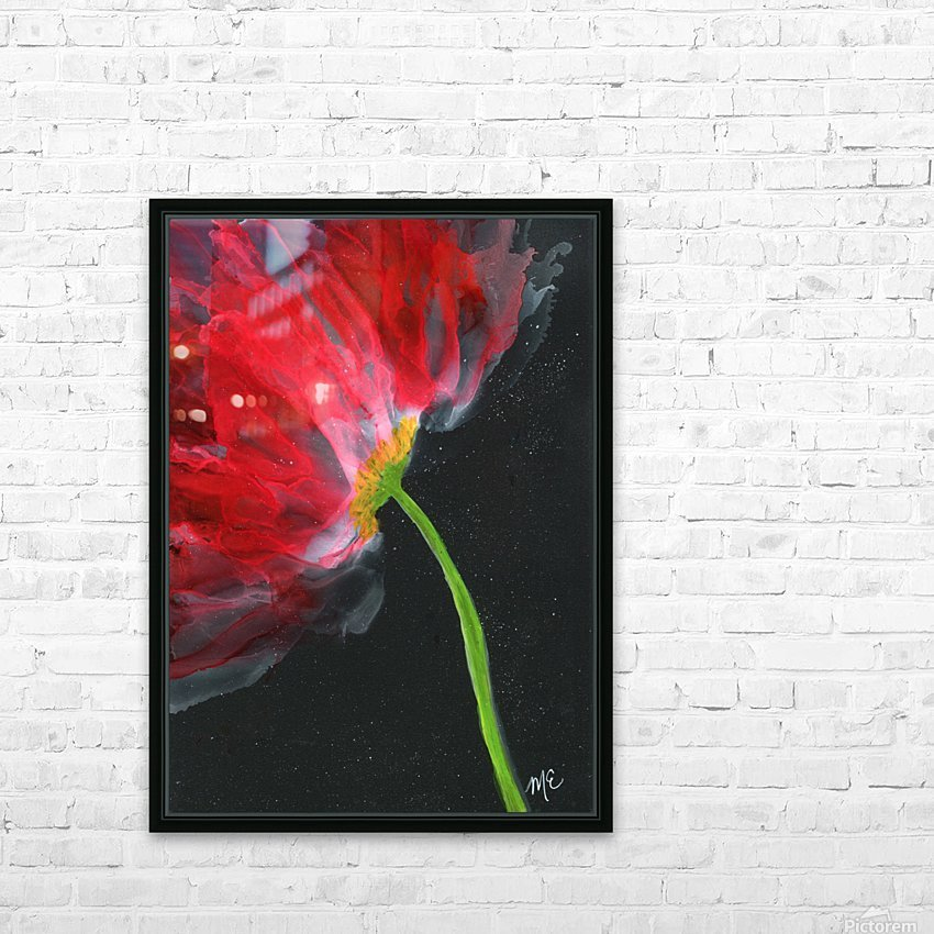 Fantastical Flower HD Sublimation Metal print with Decorating Float Frame (BOX)