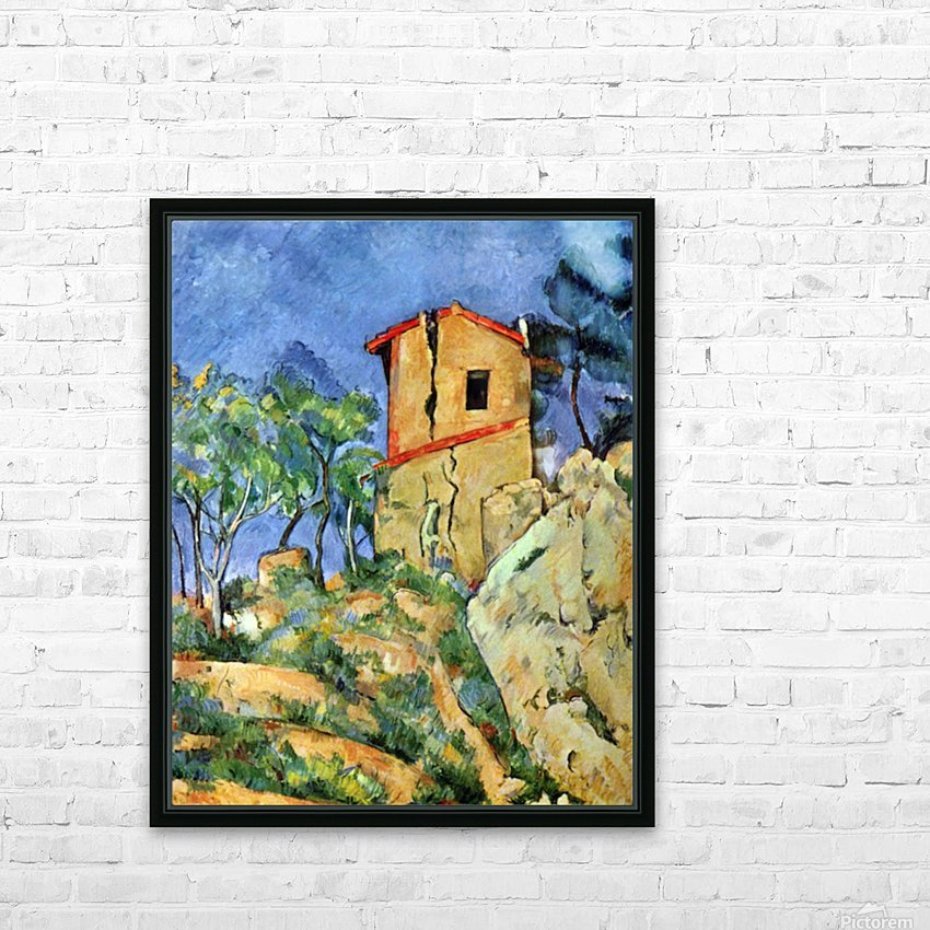 House with Walls by Cezanne HD Sublimation Metal print with Decorating Float Frame (BOX)