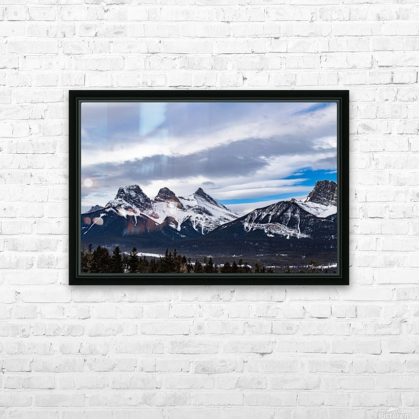 Three Sisters Mountain HD Sublimation Metal print with Decorating Float Frame (BOX)