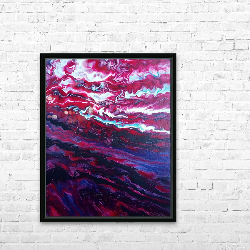 Red and purple sunset HD Sublimation Metal print with Decorating Float Frame (BOX)
